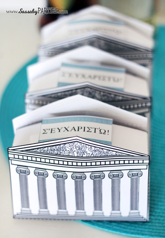 Pantheon Greek Gift Boxes by Water Walker Events & Sassaby Parties