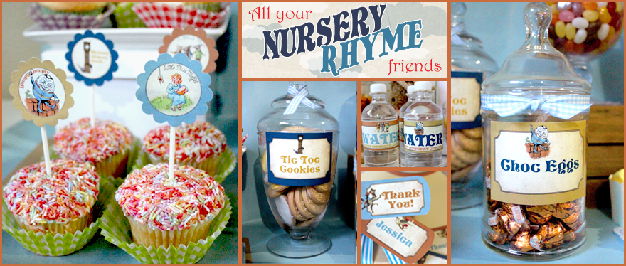 Hickory Ory Dock It S Time For A Nursery Rhyme Baby Shower