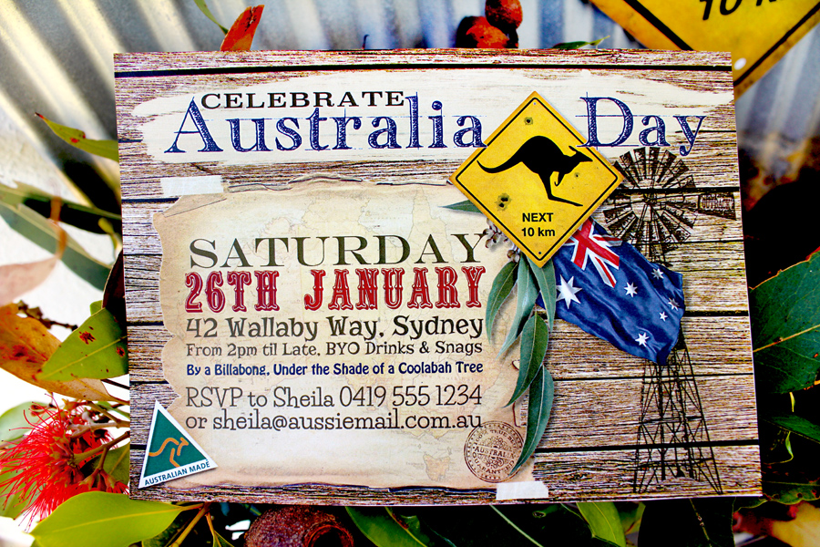 Outback Australia Day Invitation from SassabyParties.com