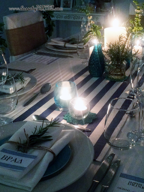 Greek Dinner Table by Sassaby Parties