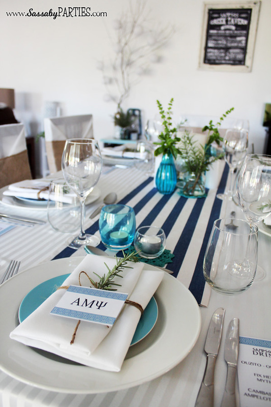 Greek Party table by Sassaby Parties