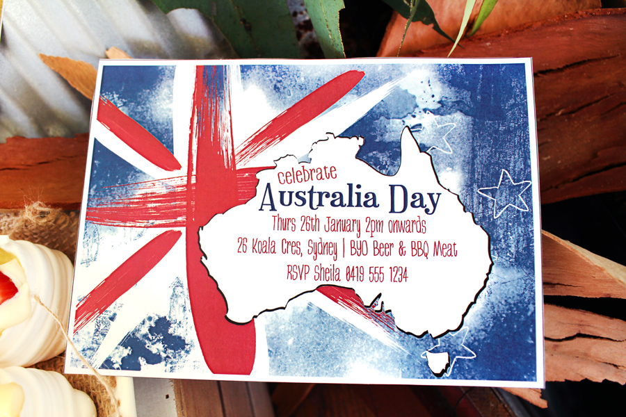 Australia day invitation free printable the sassaby for Australia day decoration