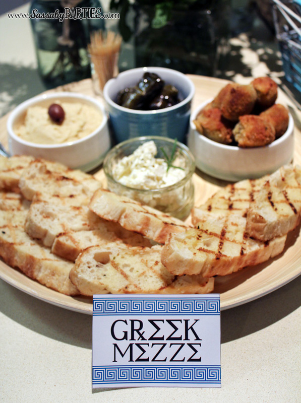 Greek Mezze plate by Sassaby Parties