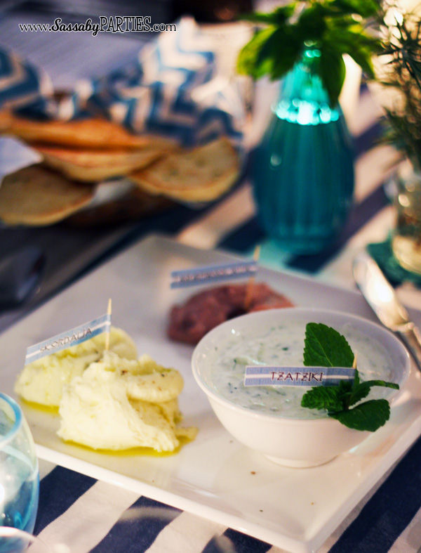 Greek Dips & Pita by Sassaby Parties