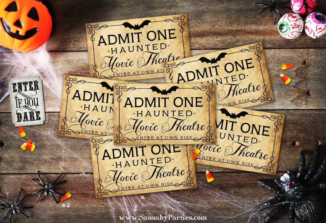 Halloween Horror Movie Party Tickets by SassabyParties.com