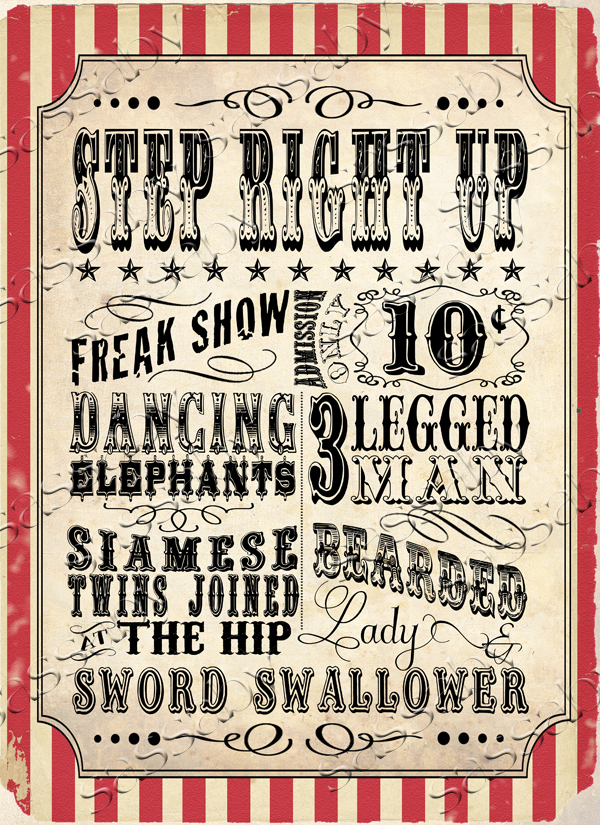 Vintage Circus Signs 76
