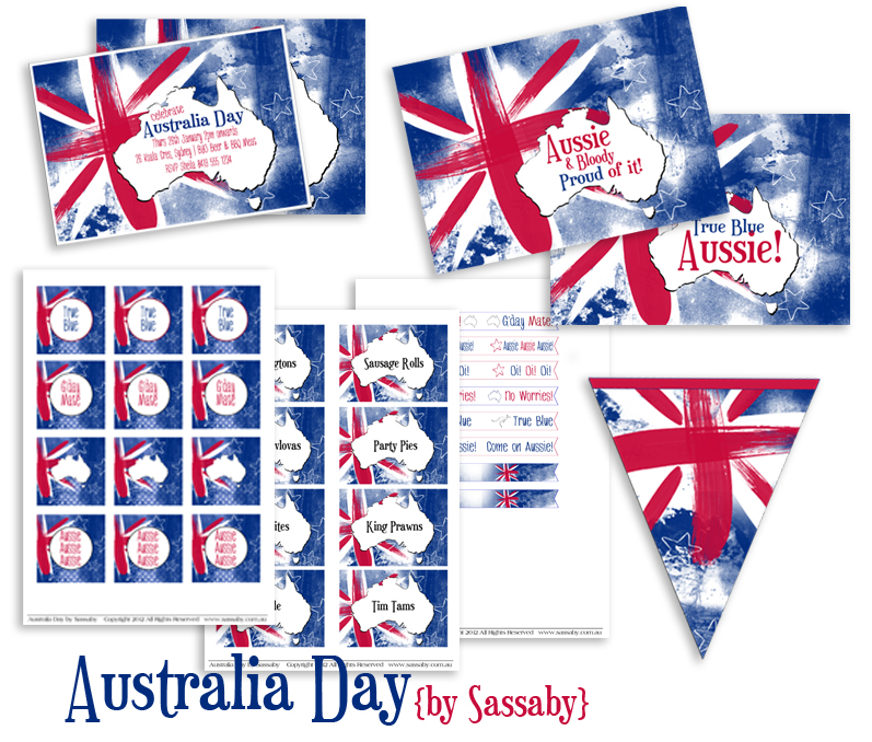 Australia day party collection for Australian decoration