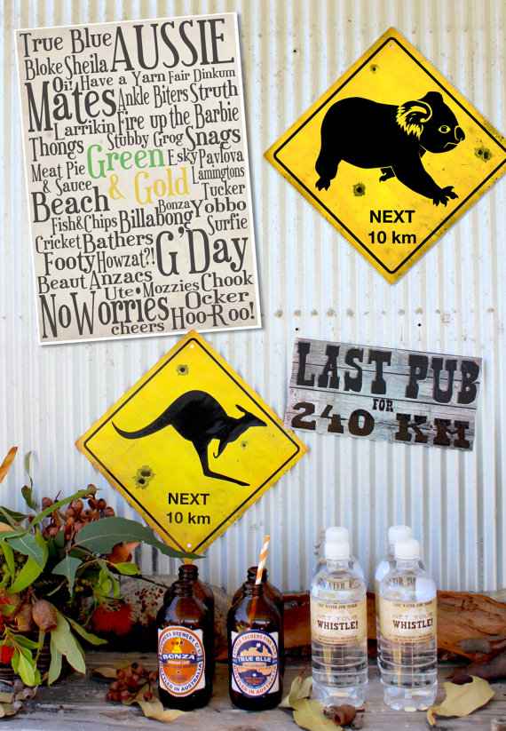 Australia day posters for Australia day decoration