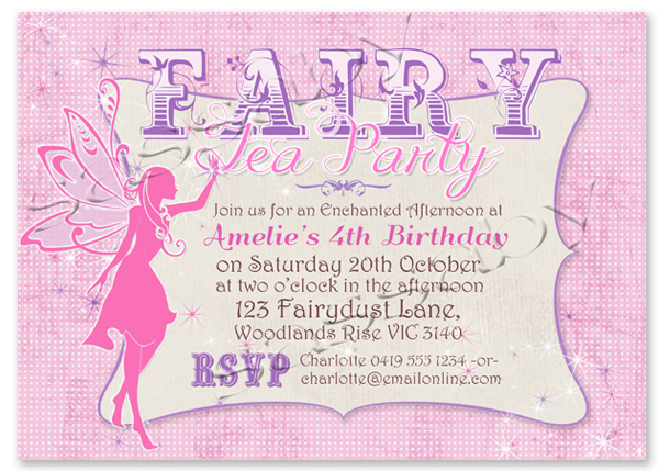 fairy invitation