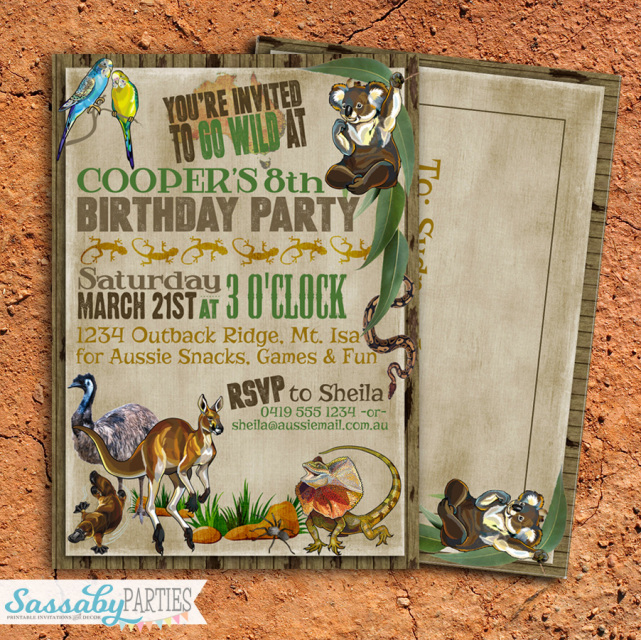 Australia Day party invitations and decorations – Australia Day Party Invitations