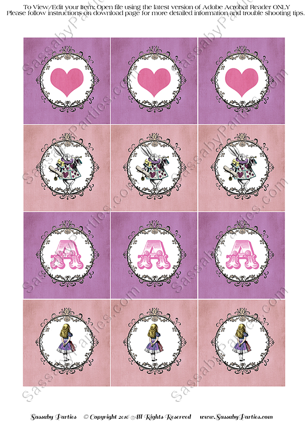 Alice In Wonderland Pastel Party Circles