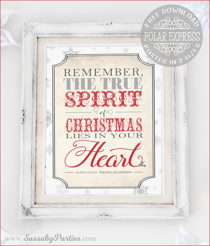 Polar Express Free Printable Spirit of Christmas Poster