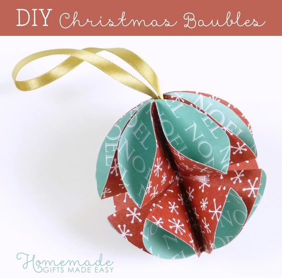 DIY Christmas Baubles from Homemade Gifts made Easy