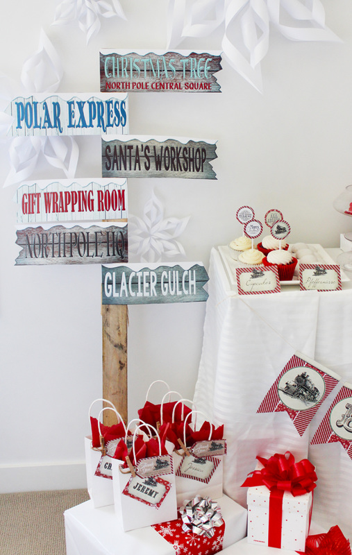 Polar Express Sign Post Free Printable from Sassaby Parties