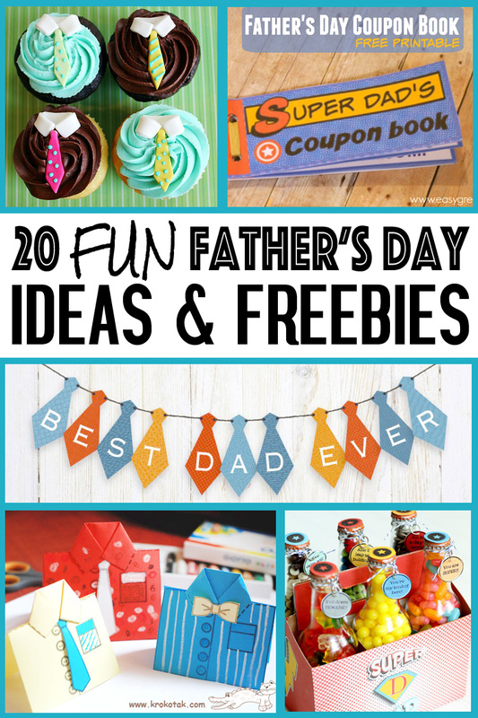 Spoil Dad with this fun collection of ideas and freebies for Father's Day from SassabyParties.com