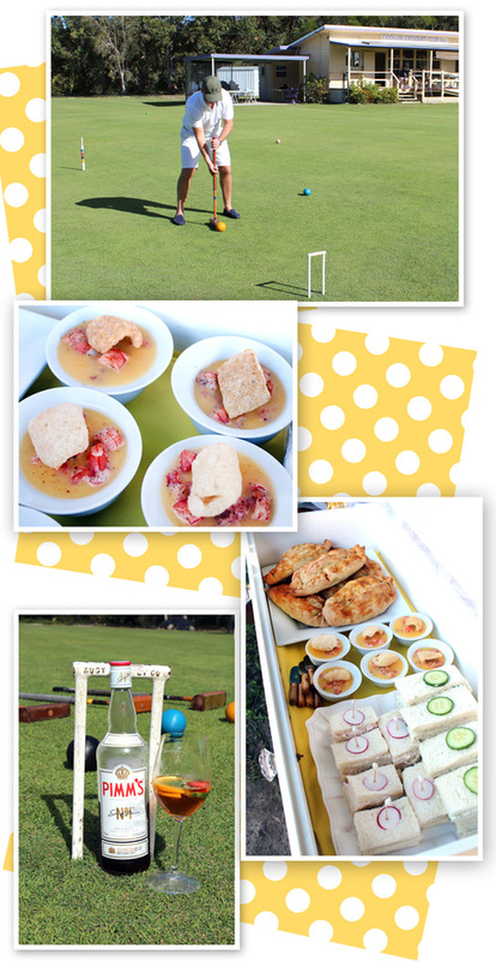 English Croquet Luncheon featured by Sassaby Parties