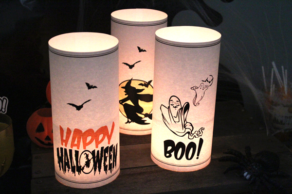 Free Printable Halloween Lanterns from SassabyParties.com