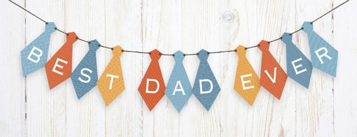 Free Printable Father's Day Tie Banner by Carlson Craft