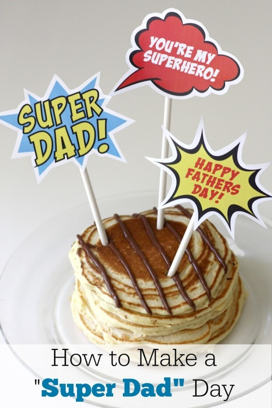 Super Dad Food Toppers free printable from CatchmyParty