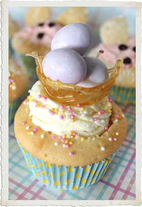 Easter Eggs Nest Cupcake by Sassaby Parties