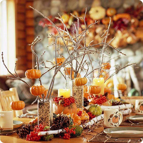 Autumn Table Centerpiece Ideas from Shelterness