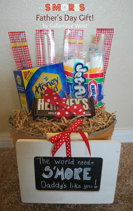 A createive DIY S'mores Gift Bucket Dad will love from Gallamore West