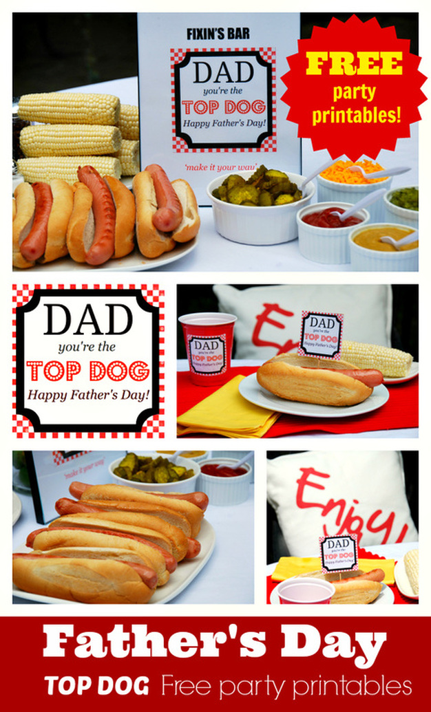 Father's Day Top Dog Free Printables from the Party BluPrints Blog
