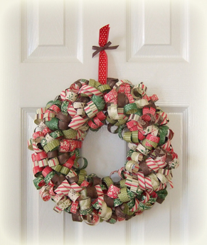 Curly Paper Christmas Wreath from for Love of Paper