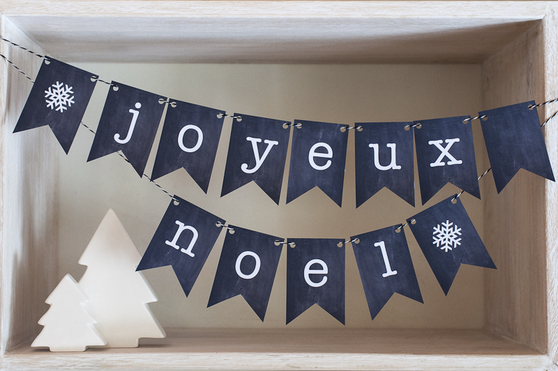 Free French Christmas Bunting from Bonjour Berry