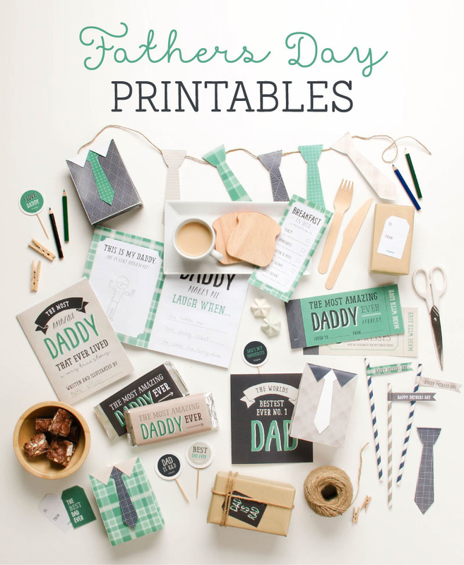 Tons of Stylish & Free Father's Day Printables from the Tinyme.com Blog