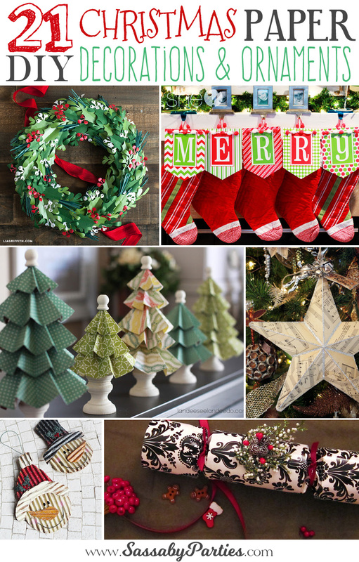 Get inspired to create your own decorations and ornaments for Christmas this year with these amazing paper craft ideas!