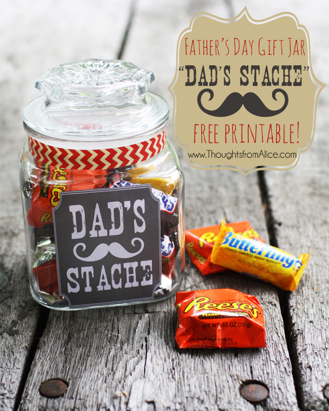 Dad's Stache with Instructions & Free Printable Labels  Love this idea! by ThoughtsfromAlice