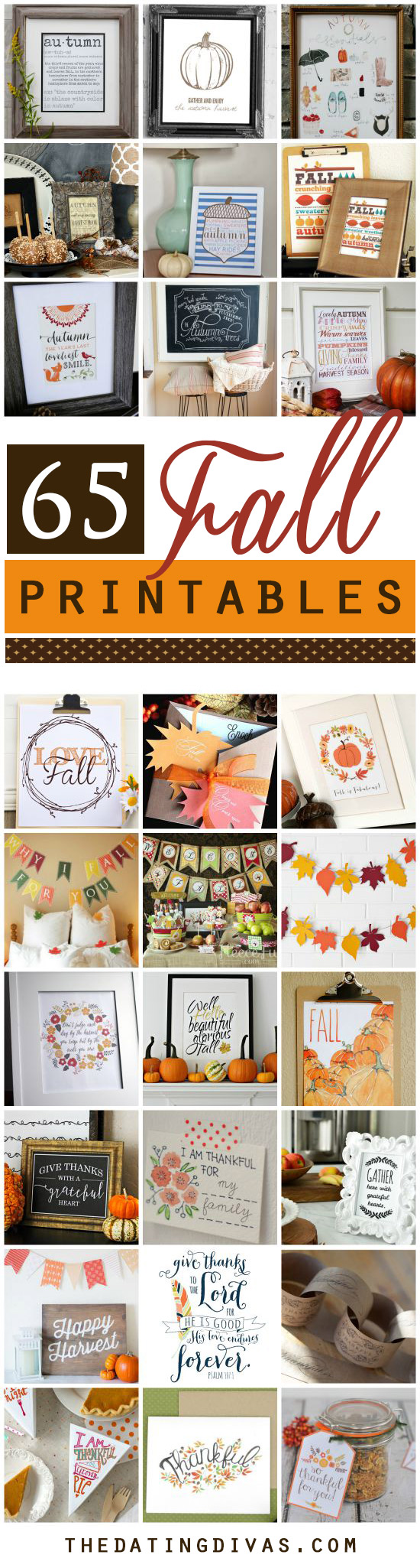 65 Free Fall Printables from the Dating Divas