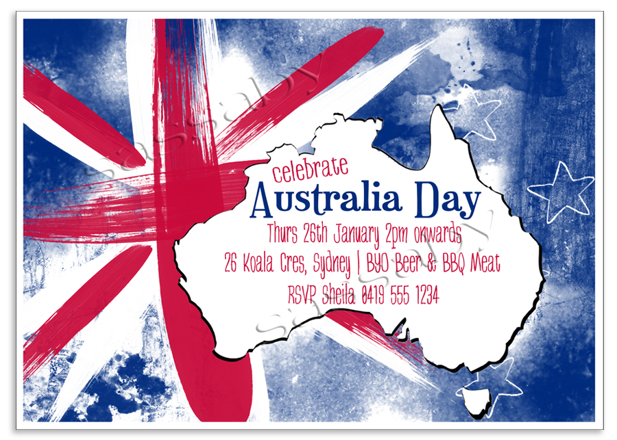 Australia day invitation for Australia day decoration