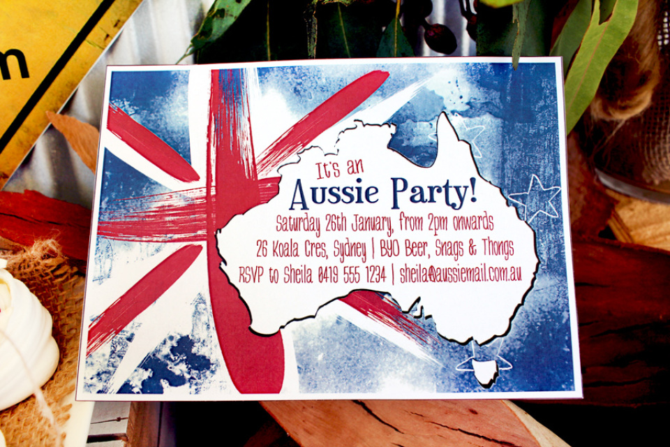 Australia day party invitations and decorations for Australia day decoration
